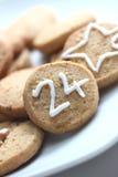 圣诞节曲奇饼12月第24 免版税库存图片