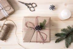 圣诞节有标记的,大模型透视图礼物盒 免版税库存照片