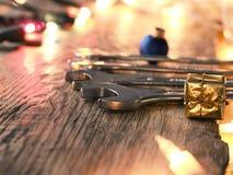 圣诞节服务或工具cocnept 免版税库存照片