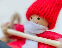 圣诞节木偶 库存照片