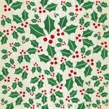 圣诞节木槲寄生形状模式 免版税库存照片