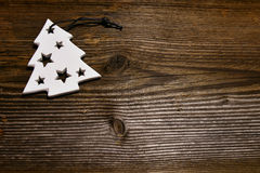 圣诞节木背景 免版税库存照片