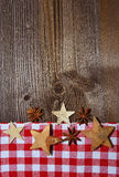 圣诞节木背景 免版税图库摄影