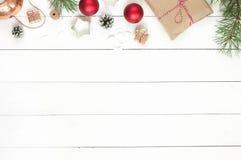 圣诞节木头背景 库存图片
