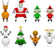 圣诞节机器人 库存图片