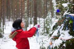 圣诞节杉树木头 库存照片