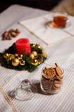 圣诞节材料 用shalow景深做的射击 有选择性 免版税图库摄影
