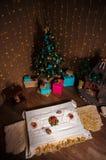 圣诞节材料 用shalow景深做的射击 有选择性 库存图片