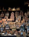圣诞节村庄供营商在圣诞节市场上 库存图片