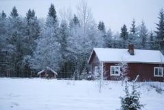 圣诞节村庄冬天 免版税库存图片
