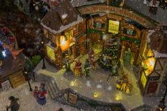 圣诞节村庄缩样 库存照片