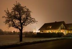 圣诞节村庄,德国 库存图片