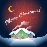 圣诞节村庄 库存图片