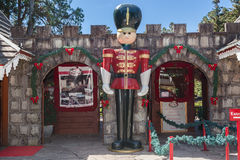 圣诞节村庄Gramado巴西 库存图片