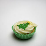 圣诞节杯子蛋糕 免版税库存照片