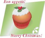 圣诞节杯形蛋糕用莓果 库存图片