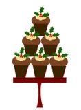 圣诞节杯形蛋糕 库存图片