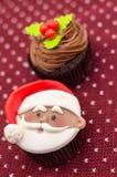 圣诞节杯形蛋糕 库存照片