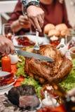 圣诞节构成文件高分辨率被掀动的火鸡非常 免版税图库摄影