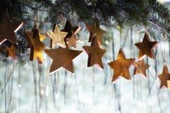 圣诞节构成星形 免版税库存照片
