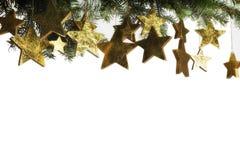 圣诞节构成星形 库存照片