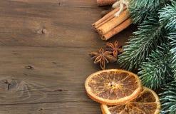 圣诞节构成用香料 免版税库存图片
