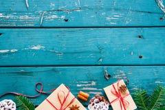 圣诞节构成背景 免版税图库摄影