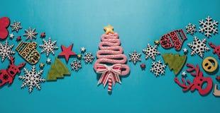 圣诞节构成,新年的玩具 免版税库存图片