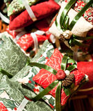 圣诞节枕头 免版税库存图片