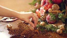 圣诞节果子礼物花束的装饰  影视素材