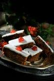 圣诞节果子蛋糕切片II 免版税库存图片