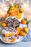 圣诞节果子蛋糕 免版税库存图片