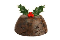 圣诞节查出布丁 免版税库存图片