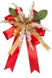 圣诞节查出的丝带 免版税图库摄影