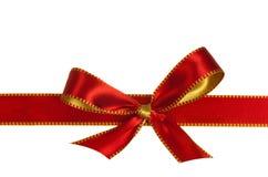 圣诞节查出的红色丝带白色 免版税库存图片