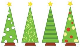 圣诞节查出的结构树 库存图片