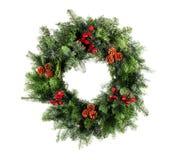 圣诞节查出的花圈 库存照片