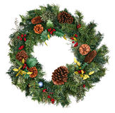 圣诞节查出的花圈 免版税图库摄影