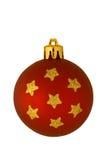 圣诞节查出的装饰品红色 库存图片