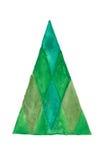 圣诞节查出的结构树 免版税库存照片