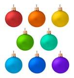 圣诞节查出被设置的装饰品 免版税库存照片
