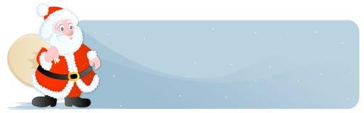 圣诞节标头/横幅圣诞老人 免版税库存照片