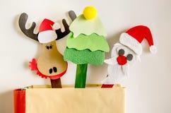 圣诞节标志工艺 图库摄影