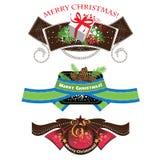 圣诞节标签,设置了要素 免版税库存照片