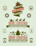 圣诞节标签,集合 库存图片