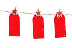 圣诞节标签 免版税库存图片
