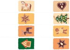 圣诞节标记用姜饼 免版税库存图片