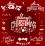圣诞节标题和设计元素 库存照片