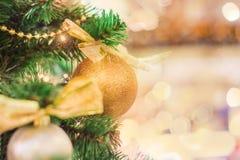 圣诞节树背景特写镜头  免版税库存照片