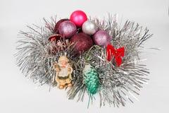 圣诞节树装饰在一个假日之前 库存照片